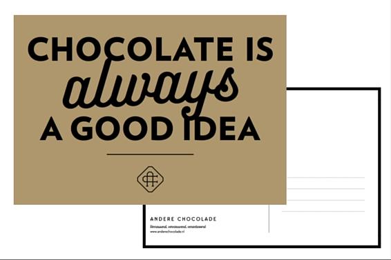 chocolade kaartje per.post