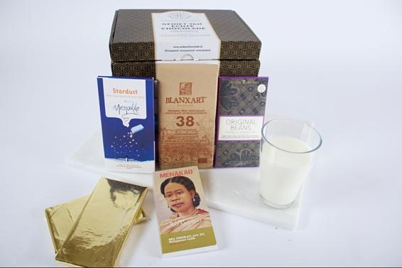De melkchocoladebox van Andere Chocolade