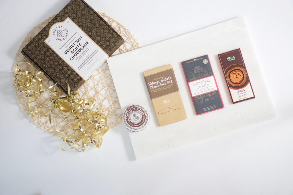 De inspiración box van Andere Chocolade