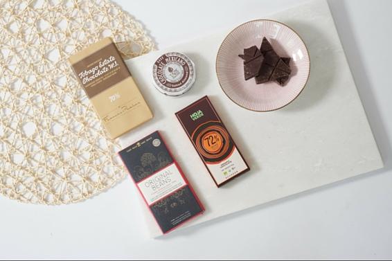 De Inspiración chocolade cadeaubox van Andere Chocolade