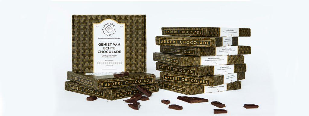Kies voor een duurzaam en verrassend relatiegeschenk van Andere Chocolade