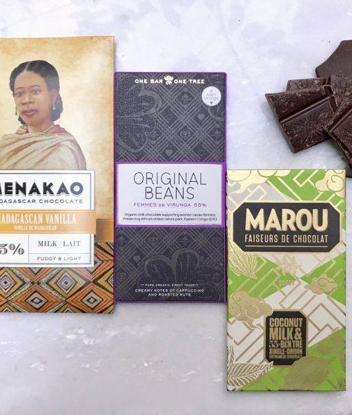 Bijzondere melkchocolade in de melkbox van Andere Chocolade